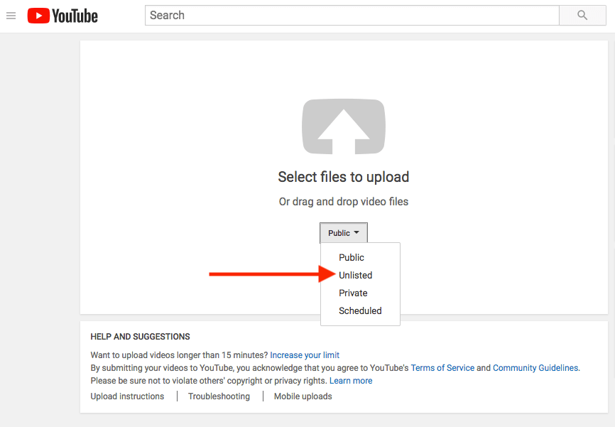 how to make videos public on youtube