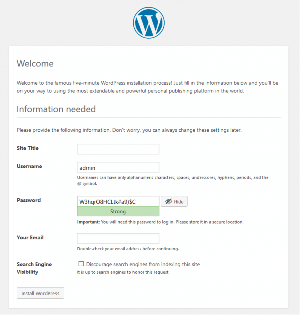 Wordpress Admin