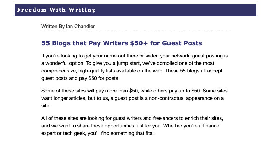 55 Blogs that Pay Writers For Guest Posting